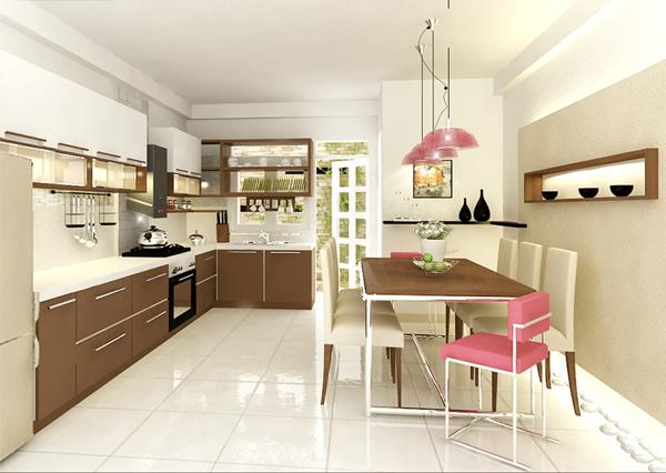 Mẫu trang trí phòng bếp đơn giản mà lại đẹp dễ thực hiện 1